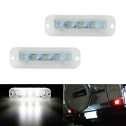 White Can-bus Led License Plate Lights For 90-12 Mercedes W463 G500 G550 G-class