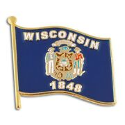 Pinmartand039s Wisconsin Us State Flag Wi Enamel Lapel Pin 1