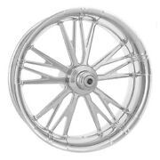 Xtreme Machine Execute Chrome 17 Rear Wheel 200 Tire Package Harley 09-15 Abs