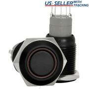 16mm Stainless Steel Latching Push Button Switch Black With Red Led