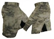 Advanced Tactical Camo Atacs Forest Green Blank Mma Fight Shorts