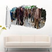 The Walking Dead Zombies 3d Torn Hole Ripped Wall Sticker Decal Decor Art Wt103