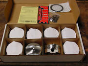 Chevy 454 Bbc 496 509 New Stroker Wiseco Forged Pistons 540 427 396 6.385 .100