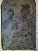 Antique African American Beach Boardwalk Caricature White Hands Tintype Photo