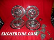 Cadillac 14 Oem Original Wheel Cover Hubcap Set 4 With Brackets And Keys