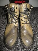 Mauri Italy Menand039s Camouflage All Alligator Crocodile Military Combat Boots 10.5