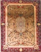 Antique Silk Hereke 3and0396 X 4and0399 1880`s 2000 Knots Per Sq. Inch 85000.00