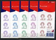 Definitives Queen Beatrix All 5 Selfadhesive Sheets 2001 In Hfl