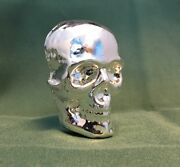 1/2 Kilo Yps 3d 999 Fine Solid Silver Skull Yeagerand039s Poured Silver Hand Poured
