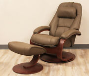 Fjords Admiral Small Recliner Chair And Ottoman Al 539 Safari Leather Lounger