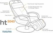 Human Touch Ht-5040 Wholebody Massage Chair - Electric Power Massaging Recliner