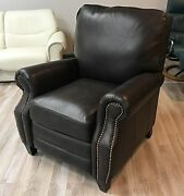 Barcalounger Briarwood Ii Genuine Aston Chocolate Leather Recliner Chair