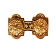 Brass Victorian Swivel Surface Catch With Knobs Cabinet Restoration Hardware
