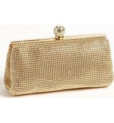 Whiting And Davis Gold Crystal Mesh Clutch