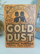 Original Fairbanks And039gold Dustand039 Washing Powder Soap Box With Soap 5oz.