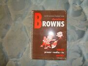1949 Cleveland Browns Media Guide Press Book Aafc Champions Football Program Ad