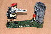Bits And Pieces Cast Iron Mechanical Bank William Tell Shooting Apple