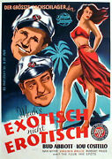 Abbott And Costello In Pardon My Sarong Rare 1sh From 1949