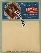 C1915 Letterhead Chicago Illinois Curtiss Candy Company Baby Ruth Otto Schnering