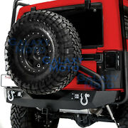 Tire Carrier+rear Bumper+1 Handed Linkage Operated For 07-18 Jeep Jk Wrangler