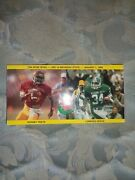 1988 Rose Bowl Media Guide Michigan State Spartans Usc Trojans Football 1987 Ad