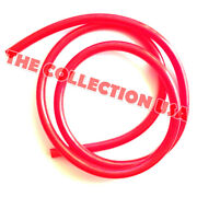Red Racing Fuel Line Gas Hose 3/16and039and039 Id For Motorcycle Atv Mini Bike Go Kart