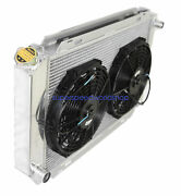 Aluminum Racing 3 Row Radiator+12 Fans Fits 79-93 Ford Mustang Glx Lx Gt Svt
