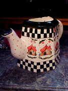 ADORABLE HANDMADE HAND PAINTED Pitcher VASE WALL POCKET Planter B