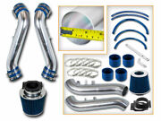 Bcp Blue 90-96 300zx Non-turbo Na Short Ram Air Intake Racing System + Filter