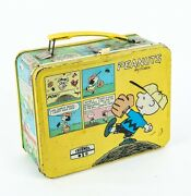 Vintage Peanuts Collectible Metal Lunchbox