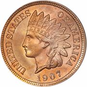 1907 Indian Head Cent - Bu - Choice Brilliant Red Uncirculated 2226.q9058