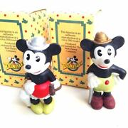 Vintage Rare Mickey Minnieand039s Bisque Doll Set Made In Japan Retro Free Shipping