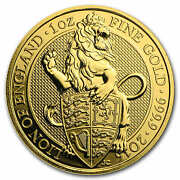 2016 Great Britain 1 Oz Gold Queenand039s Beasts The Lion - Sku 96671