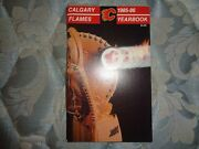 1985-86 Calgary Flames Media Guide Yearbook 1986 Stanley Cup Finals Program Ad