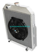 3row Aluminum Racing Radiator+14 Fan For 48-52 Ford F1-f8 Truck W/chevy L6/v8