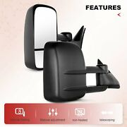 Manual Extend Towing For 1988-98 Chevy Gmc C/k 1500/2500/3500 Side Mirrors Pair