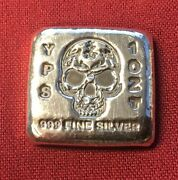 1 Oz Hand Poured 999 Silver Bullion Skull Bar By Yps - Yeagerand039s Poured Silver
