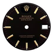 Authentic Rolex Black Dial For Midsize Watches With Sapphire Or Plastic Crystal