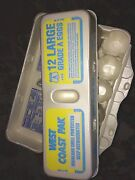 Styrofoam Egg Cartons West Coast Pack Qty 50 - 12 Ct Carton For Large Eggs