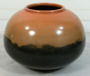 NICE David Greenbaum Art Pottery 3-Tone 8-Inch Pot Planter Black Gray Salmon?