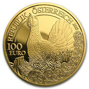 2015 Austria Prf Gold Andeuro100 Wildlife In Our Sights Capercaillie - Sku 94617