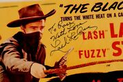 Lash Larue Signed Photo Of The 1948 Movie Poster The Blacklash Jsa Authentic