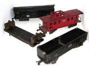 4-vntg. 1930and039s O Gauge American Flyer Lines Railroad Trains40174018402140..