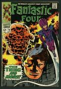Stan Lee Signed Fantastic Four 78 Comic Book The Thing No More Psa/dna W18836