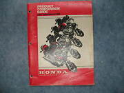 1981 Used Honda Product Comparison Guide Book 1981 Motorcycles Printed 81