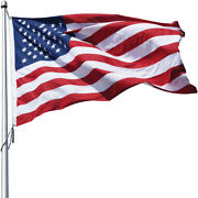 Eder Flag Poly-max Us Flag Outdoor High Wind Durable Embroidered Stars Usa Made