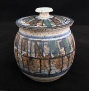Rising Fawn Charles Counts Pottery jar with lid, marked studio art pottery