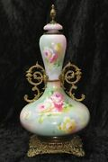 "18"" William H. Morley Hand Painted & Signed Antique Lenox URN by CERMAMIC ART CO"