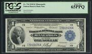 Fr734 1 1918 Frbn Minneapolis Pcgs 65 Ppq 5 Known This Grade To Better Wlm4745