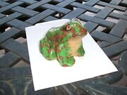 Weller Pottery Coppertone Figural Frog, The Little One. Factory Mint
